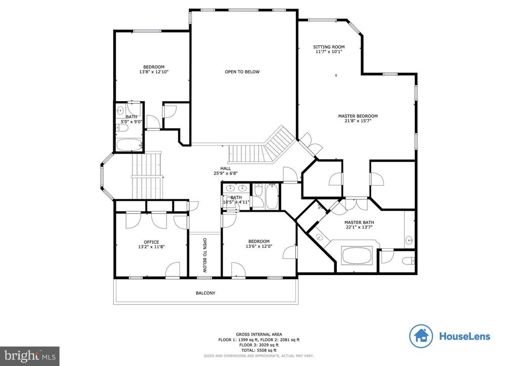 Floor Plan - Upper Level - 12328 TIDESWELL MILL CT, WOODBRIDGE