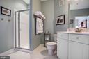 Common bath with upgraded tile - 815 BRANCH DR #405, HERNDON