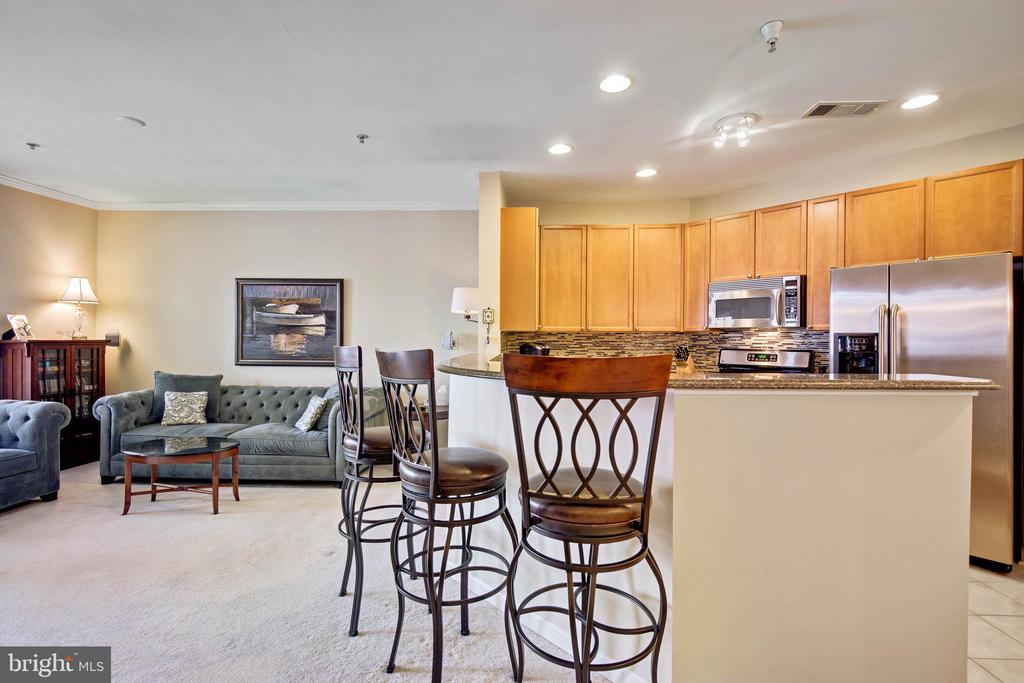 Open area from Kitchen to Living Room - 815 BRANCH DR #405, HERNDON