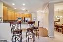 Breaksfast bar with room for quite a few - 815 BRANCH DR #405, HERNDON