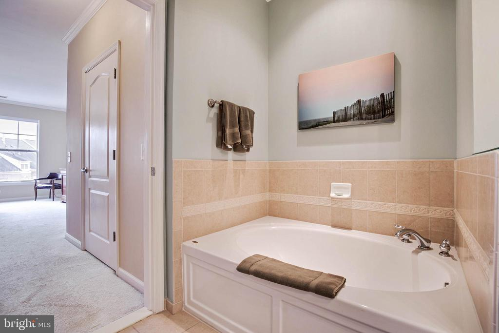 Master Bath has  separate tub - 815 BRANCH DR #405, HERNDON