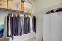 One of two large walk in closets - 815 BRANCH DR #405, HERNDON