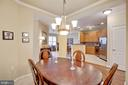 View from Dining Room to Kitchen and beyond - 815 BRANCH DR #405, HERNDON