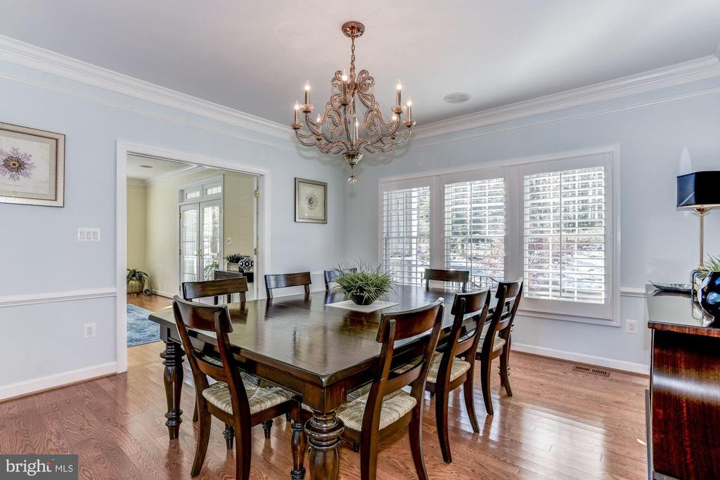 Grand formal Dining Room - 9709 BROOKSTONE LN, VIENNA