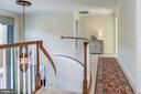 Upper level staircase - 9709 BROOKSTONE LN, VIENNA