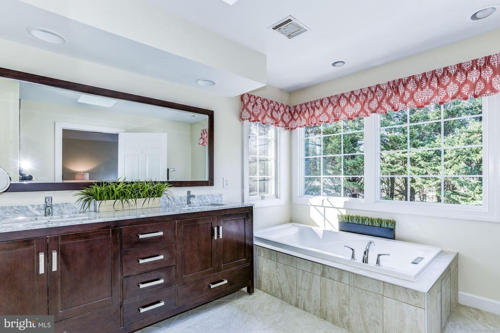 Master Bath fit for Royalty - 9709 BROOKSTONE LN, VIENNA