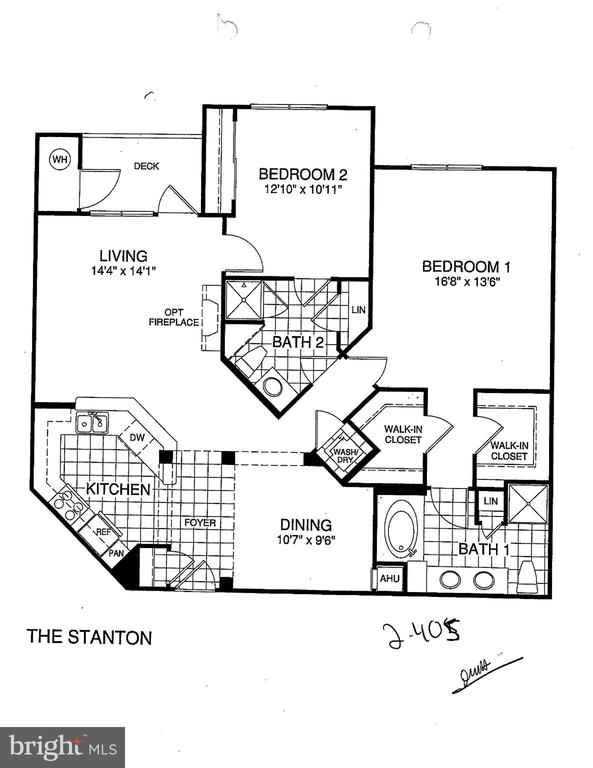 Condo Floor plan - 815 BRANCH DR #405, HERNDON