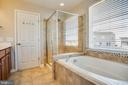 Soaking tub, and tiled shower - 60 IVY SPRING LN, FREDERICKSBURG