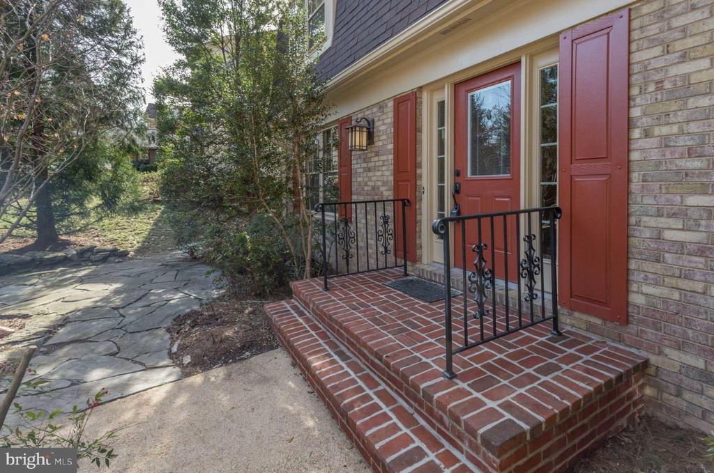 Patio adjacent to Front Door - with rebuilt stoop! - 8911 GLADE HILL RD, FAIRFAX