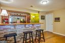 Entertainers bar in basement with custom lighting - 5 KLINE CT, STAFFORD