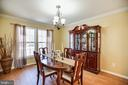 Formal dining room right off the kitchen - 5 KLINE CT, STAFFORD