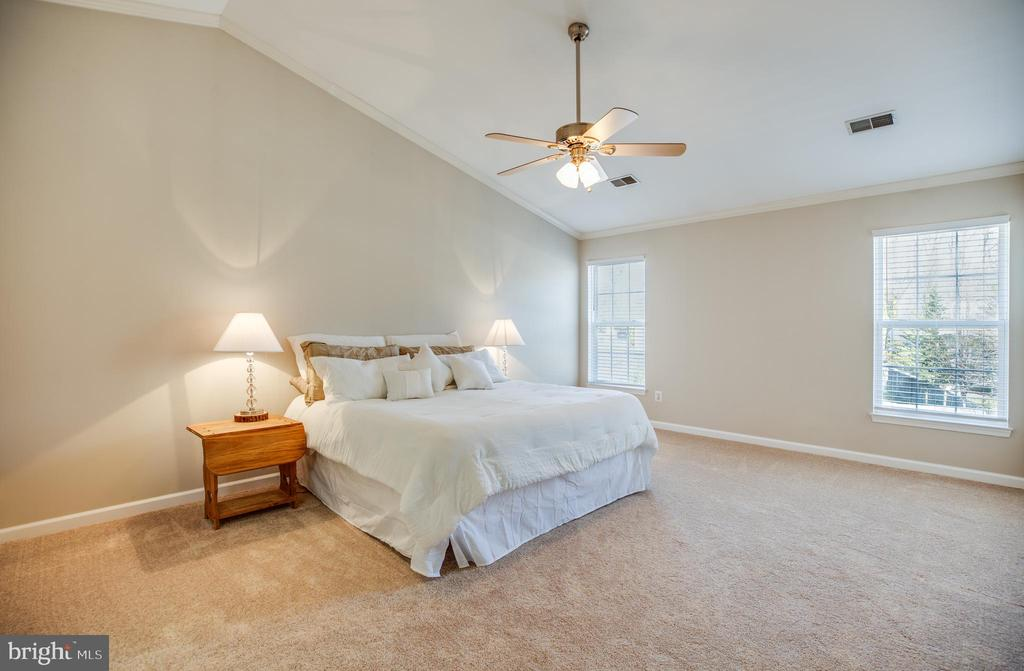 Dramatic vaulted ceiling in the master - 5 KLINE CT, STAFFORD