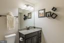 Full bathroom located in the basement. - 3344 SOARING CIR, WOODBRIDGE