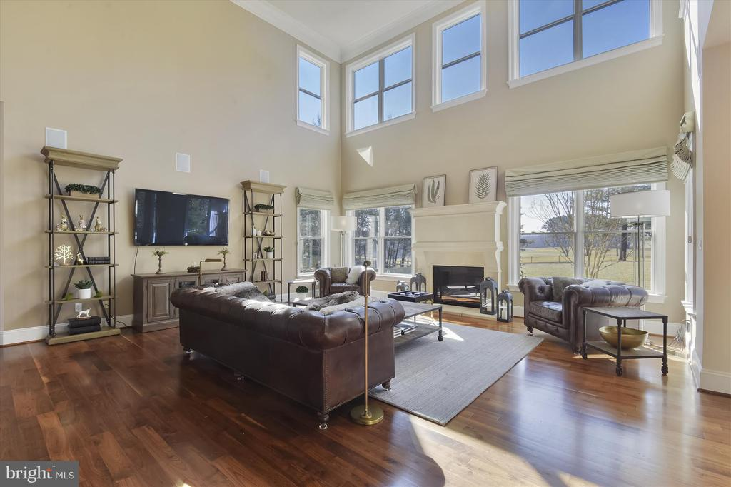Two Story Family Room w/Gas Fireplace - 9801 BEACH MILL RD, GREAT FALLS