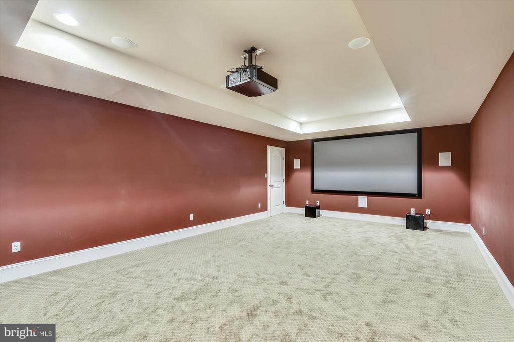 Media Room Lower Level - 9801 BEACH MILL RD, GREAT FALLS