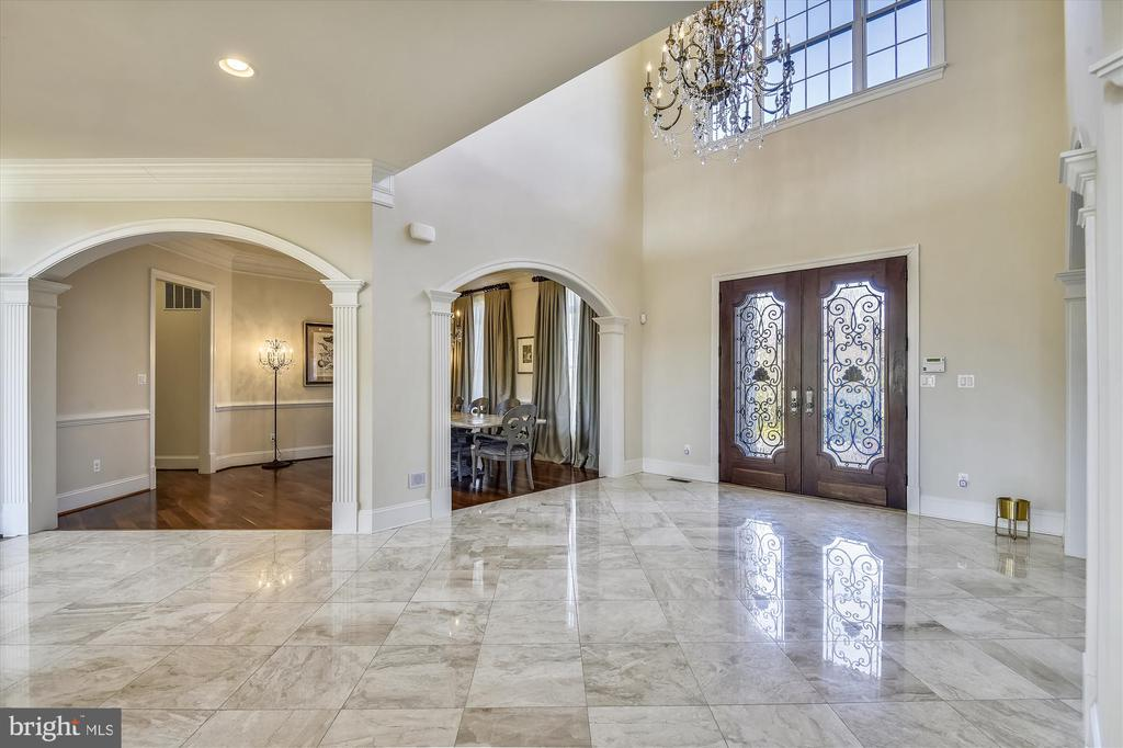 Stately Entrance 2 Story Foyer  w/Marble Floors - 9801 BEACH MILL RD, GREAT FALLS