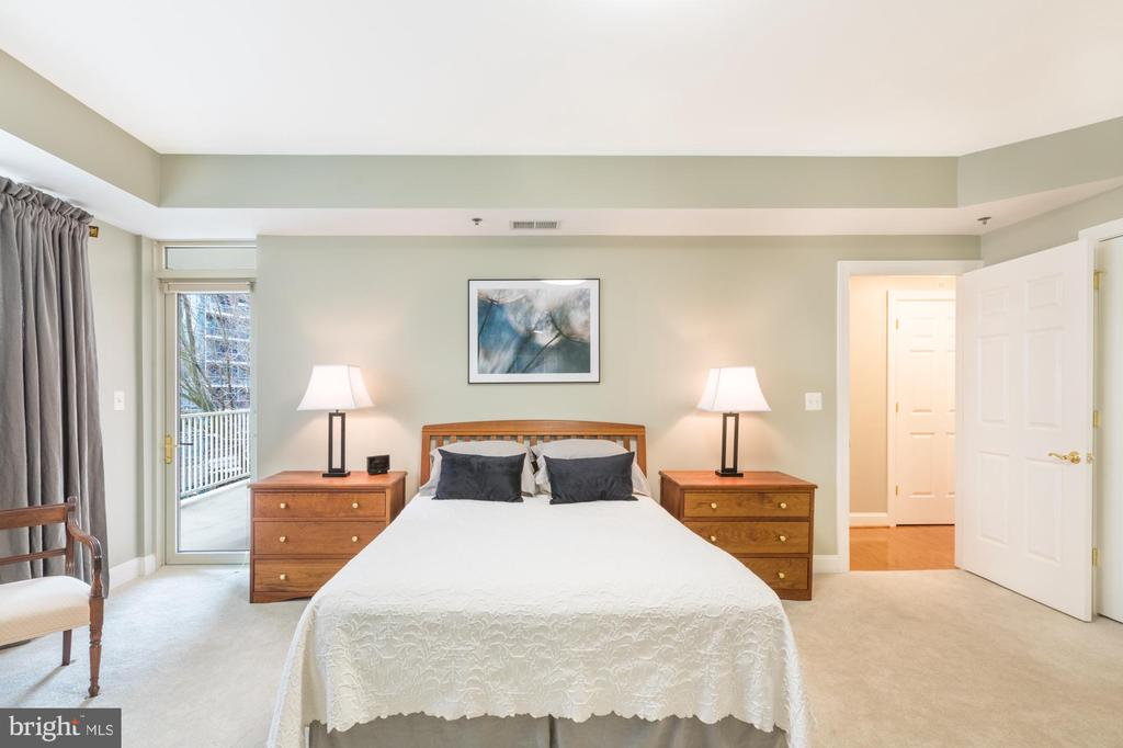 Master suite w/ balcony access - 1555 N COLONIAL TER #501, ARLINGTON