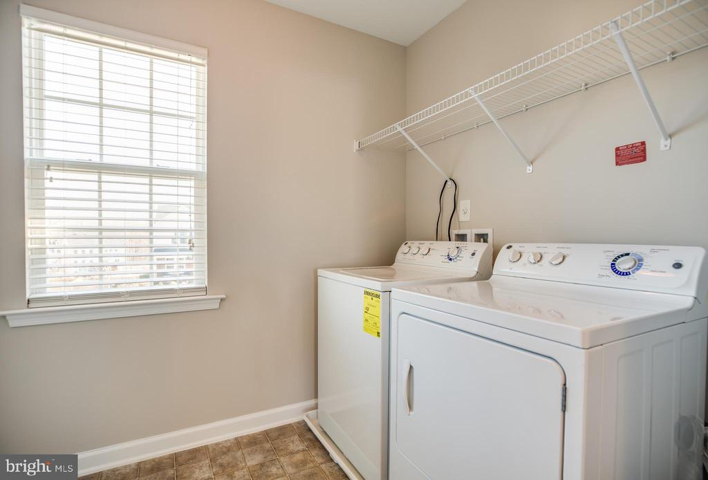 Upstairs laundry room, washer and dryer included - 60 IVY SPRING LN, FREDERICKSBURG