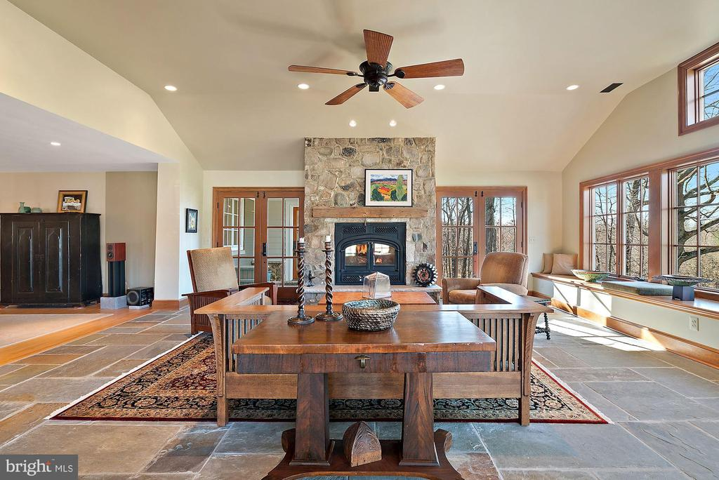 Heated stone floors in new addition - 43470 EVANS POND RD, LEESBURG
