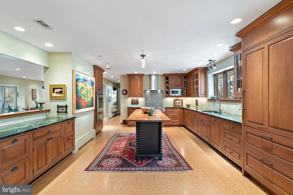 Cork flooring is perfect for kitchen - 43470 EVANS POND RD, LEESBURG