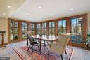 Wall of windows/doors to  admire the views - 43470 EVANS POND RD, LEESBURG