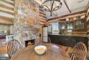 Kitchen in Log House, custom cabinets - 43470 EVANS POND RD, LEESBURG