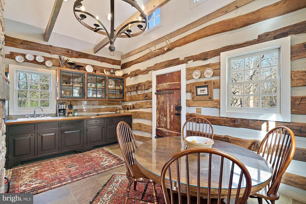 Darling eat-in kitchen at Log House - 43470 EVANS POND RD, LEESBURG