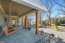 Porch with slate floors overlooking pastures. - 43470 EVANS POND RD, LEESBURG