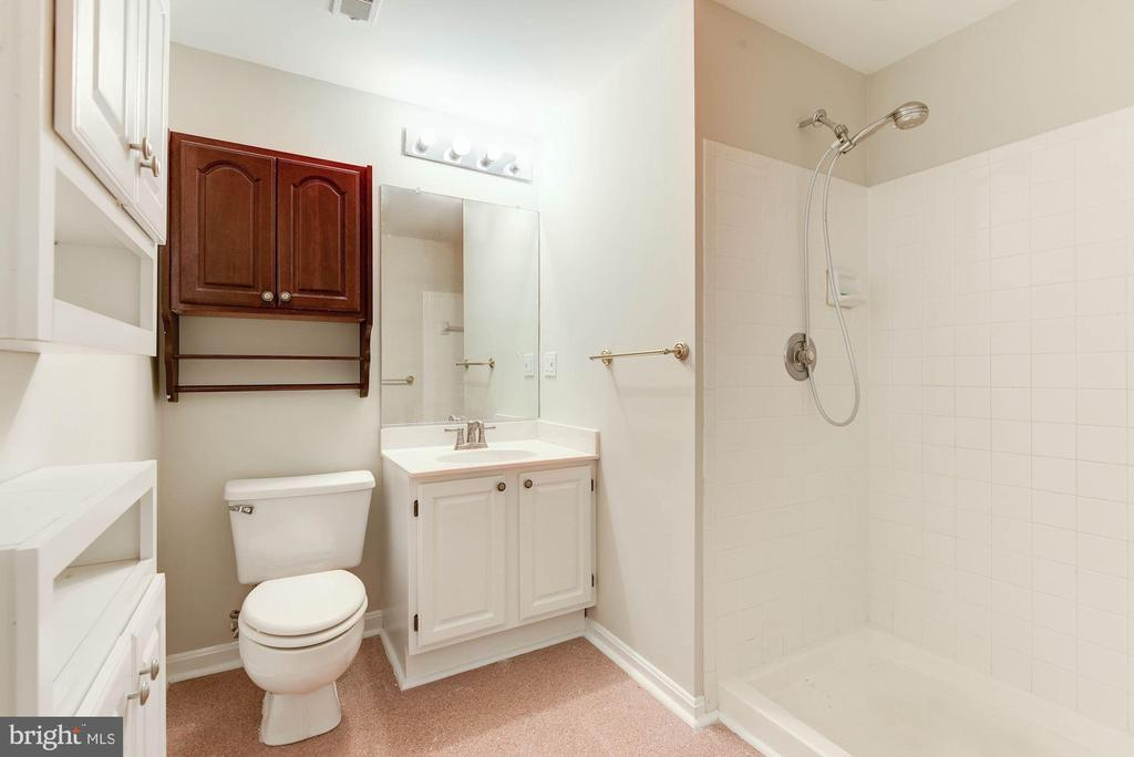 Full Hall Bath on Lower Level - 8205 COLLINGWOOD CT, ALEXANDRIA