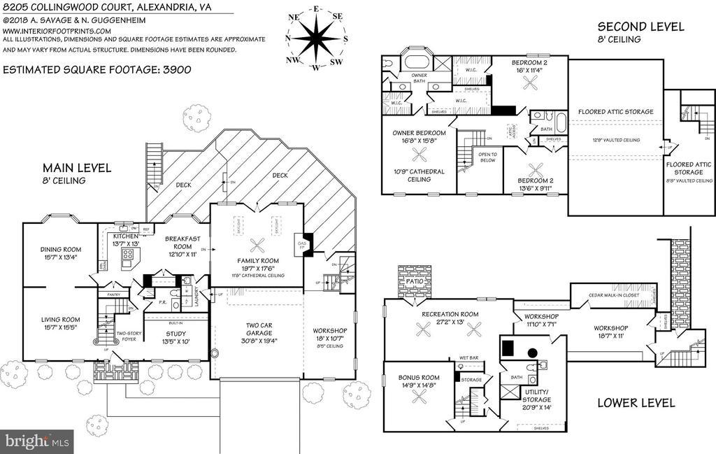 Floorplan - 8205 COLLINGWOOD CT, ALEXANDRIA