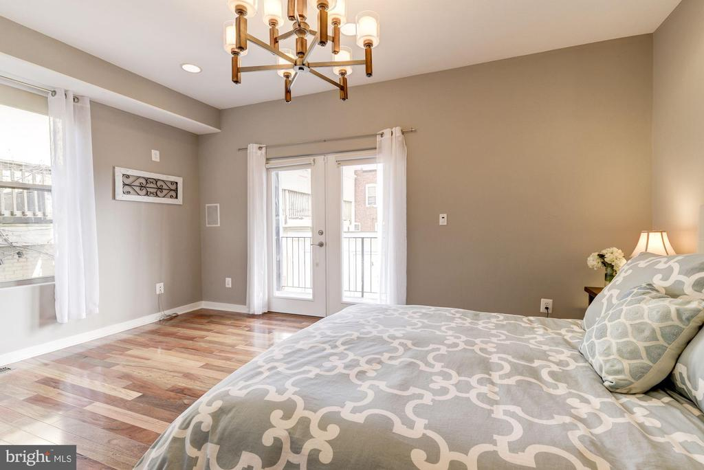 Master Bedroom: French Doors to Private Balcony! - 1811 3RD ST NE #1, WASHINGTON