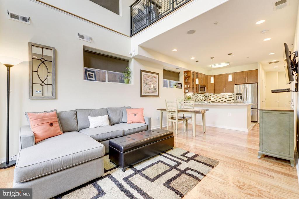 Living Room with Soaring ~20+ Foot Ceiling! - 1811 3RD ST NE #1, WASHINGTON