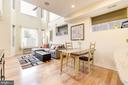 Living Room Opens Beautifully to Dining & Kitchen! - 1811 3RD ST NE #1, WASHINGTON