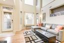 Living Room Receives an Abundance of Sunlight! - 1811 3RD ST NE #1, WASHINGTON