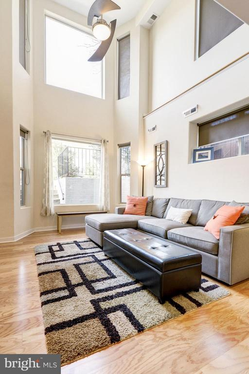 Two-Story Living Room w/ Oversize Picture Windows! - 1811 3RD ST NE #1, WASHINGTON