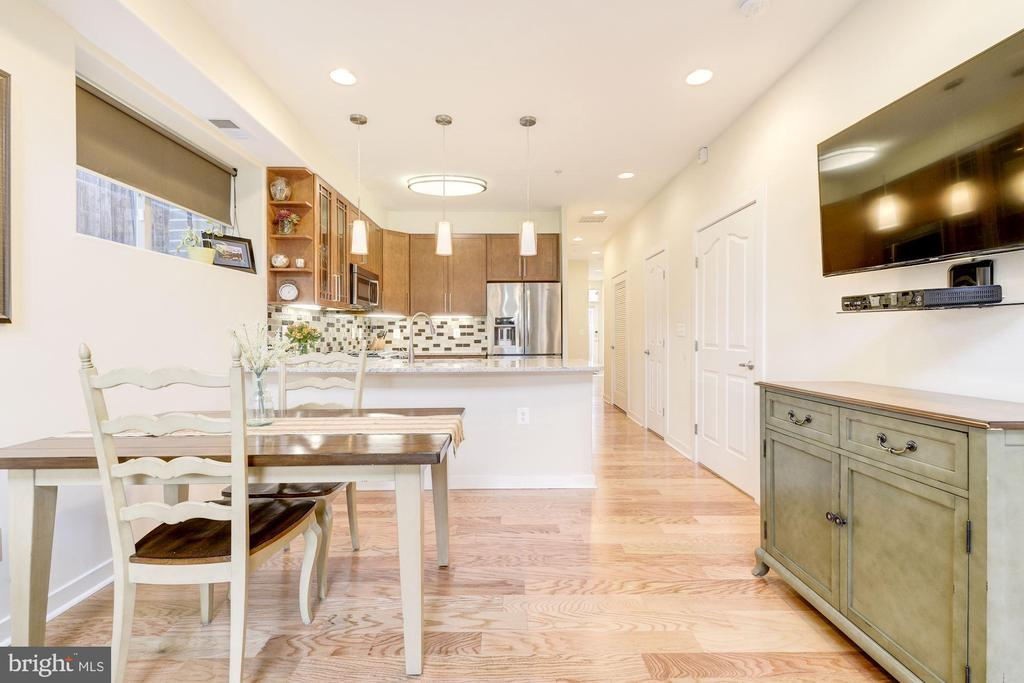 Dining Area Leads Nicely in to Kitchen! - 1811 3RD ST NE #1, WASHINGTON