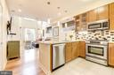 Kitchen: Cherry Wood Cabinetry & Pendant Lighting! - 1811 3RD ST NE #1, WASHINGTON