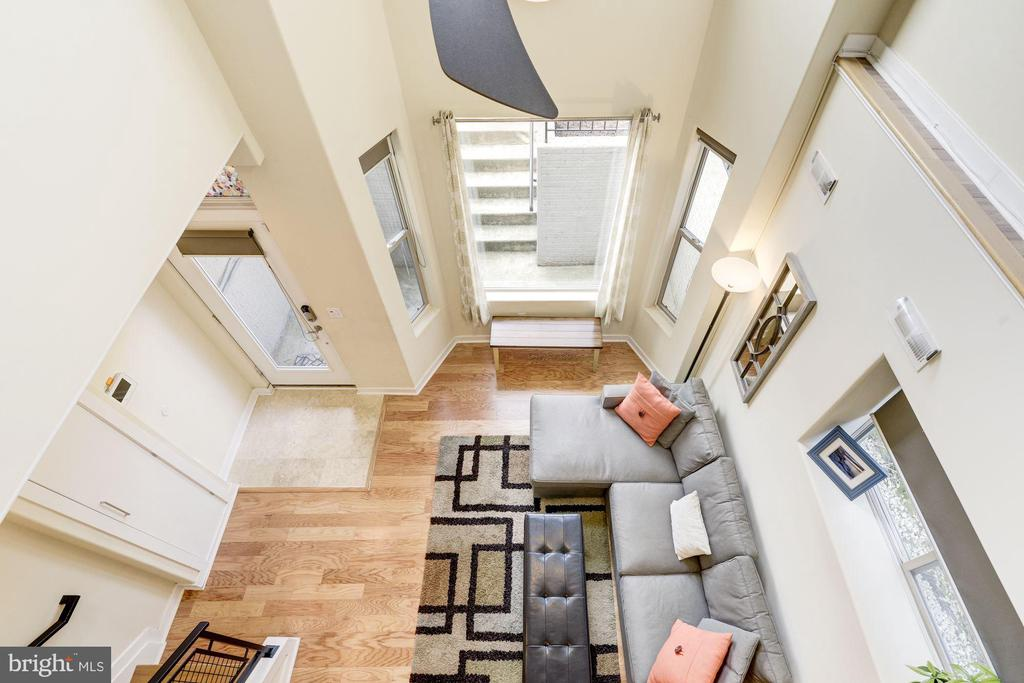 View from Loft Looking Over Railing into Living Rm - 1811 3RD ST NE #1, WASHINGTON