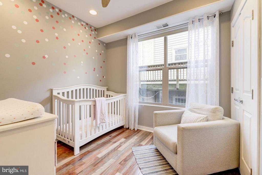 Bedroom #2: Hardwood Floors + Recess Lighting! - 1811 3RD ST NE #1, WASHINGTON