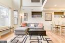 Living Room  Boasts Hardwood Floors! - 1811 3RD ST NE #1, WASHINGTON