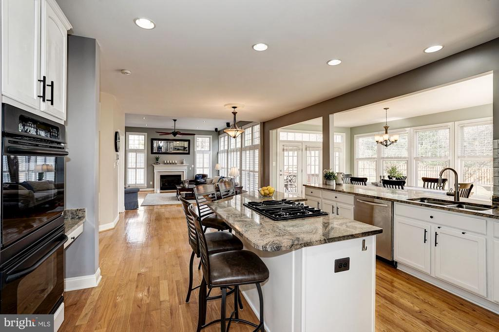 Incredible gourmet eat-in kitchen opens to FR - 1309 SHAKER WOODS RD, HERNDON