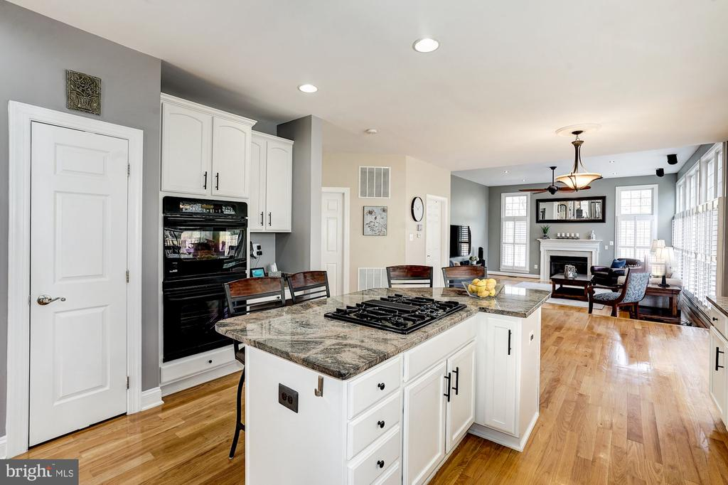 Center gas cooking island, wall oven & pantry - 1309 SHAKER WOODS RD, HERNDON