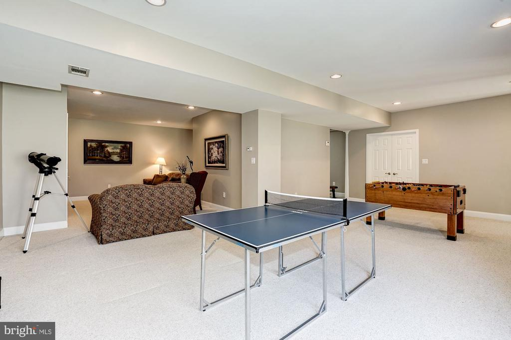 Spacious / open lower level rec room - 1309 SHAKER WOODS RD, HERNDON