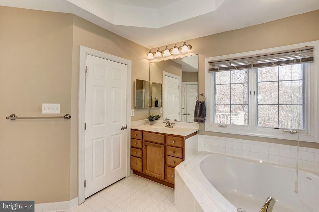 Master bath with water closet - 1309 SHAKER WOODS RD, HERNDON