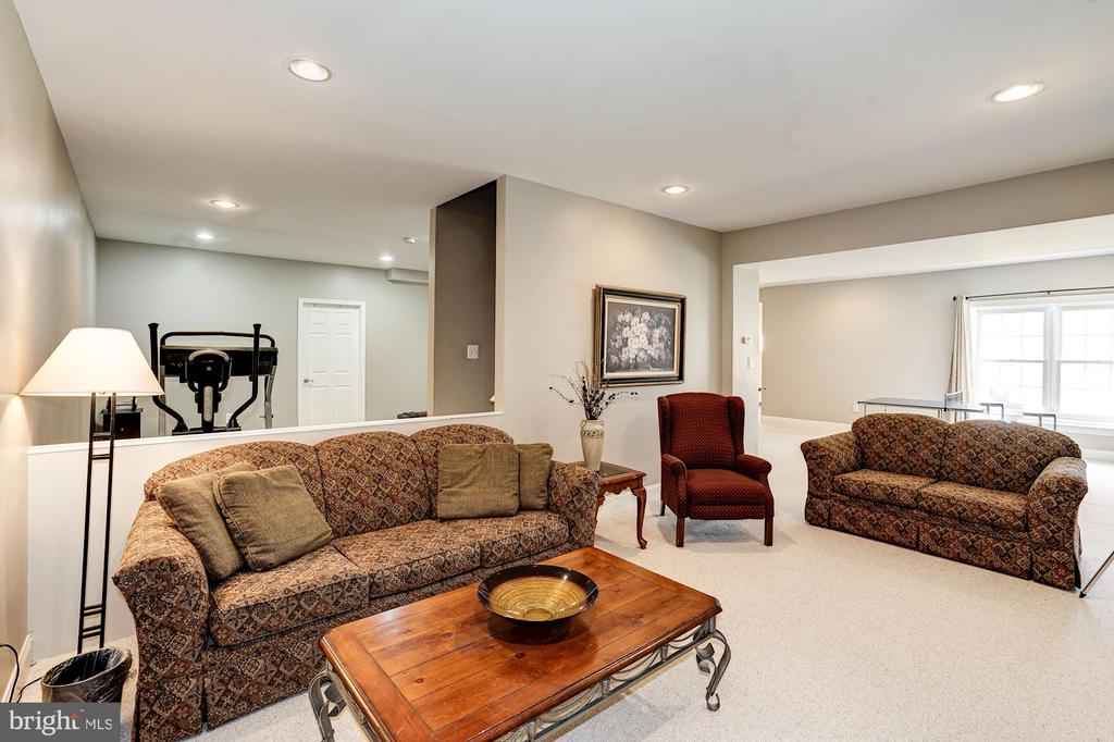 Walk out lower level family room w/ recessed light - 1309 SHAKER WOODS RD, HERNDON
