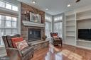 Family room w/ custom built-ins and gas fireplace - 718 TURTLE POND LN, GAITHERSBURG