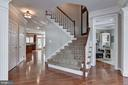 Wide, open staircase - 718 TURTLE POND LN, GAITHERSBURG