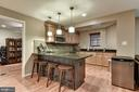 Custom kitchenette/bar on lower level - 718 TURTLE POND LN, GAITHERSBURG
