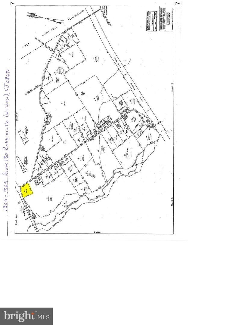 Земля для того Продажа на 1305-1325 ROUTE 130 Robbinsville, Нью-Джерси 08691 Соединенные ШтатыВ/Около: Robbinsville Township