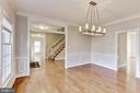 Dining Room opens to kitchen & Foyer - 11911 CRAYTON CT, HERNDON